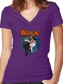 The Question Women's Fitted V-Neck T-Shirt
