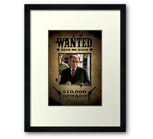 Buffy Principal Snyder Wanted Framed Print