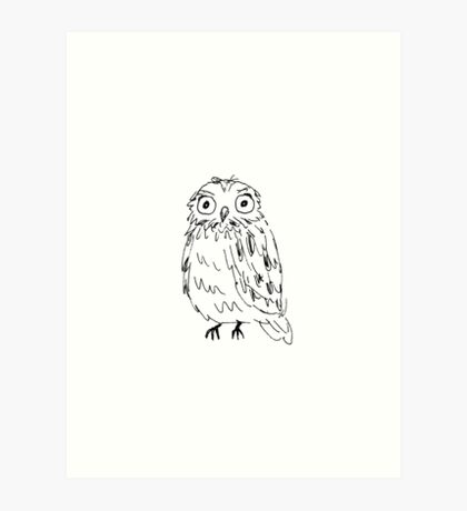 The Wide-Eyed Owl Art Print