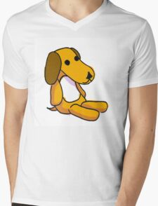 Kirby the Dog Mens V-Neck T-Shirt