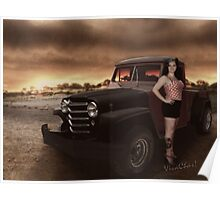 Jeepin Bettie by the Billabong Poster