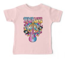 Peace, Love and Music Baby Tee