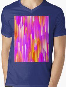 Colorful digital art splashing Mens V-Neck T-Shirt