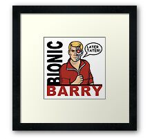 Bionic Barry Framed Print