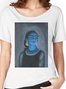 Blue Frida Women's Relaxed Fit T-Shirt