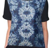 Blue Tie dye - Indigo Chiffon Top