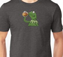 Kermit Tea None of My Business with Cavs Logo Unisex T-Shirt