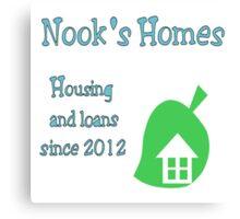 Nook's Homes Logo Canvas Print