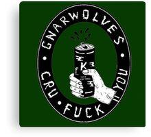 GNARWOLVES CRU F*** YOU ARTWORK Canvas Print