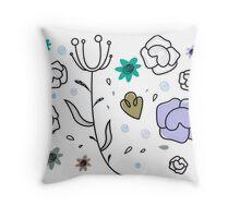 """""""Floral Metamorphosis"""" - Just Original Artistic Piece! Throw Pillow"""