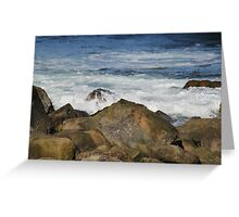 Gloucester's Magnificent Rocky Shore Greeting Card