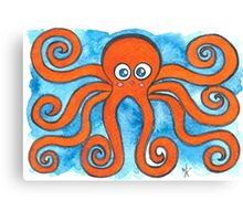Kawaii Octopus  Canvas Print