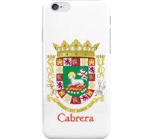 Cabrera Shield of Puerto Rico iPhone Case/Skin