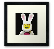 Lego Bunny Suit Guy Framed Print