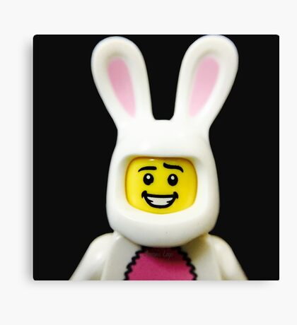Lego Bunny Suit Guy Canvas Print