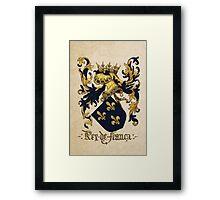 King of France Coat of Arms - Livro do Armeiro-Mor Framed Print