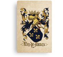 King of France Coat of Arms - Livro do Armeiro-Mor Canvas Print
