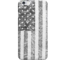 Big Black US Flag  iPhone Case/Skin