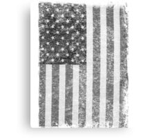 Big Black US Flag  Canvas Print