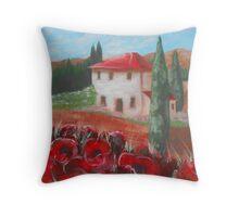 tuscany vila Throw Pillow