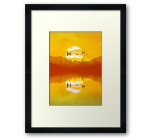 takodana sunset Framed Print