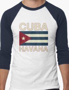 Cuba havana Men's Baseball ¾ T-Shirt