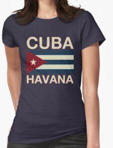 Cuba havana Womens Fitted T-Shirt