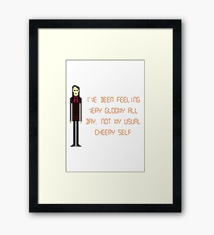 The IT Crowd – Not My Usual Cheery Self Framed Print