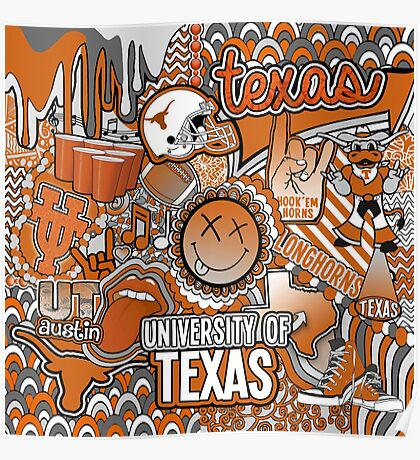 Texas Collage Poster
