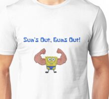 Spongebob Squarepants - Sun's Out, Guns Out! Unisex T-Shirt