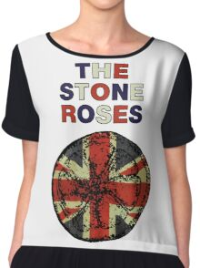 STONE ROSES UNION JACK ARTWORK Chiffon Top