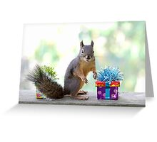Squirrel and Presents Greeting Card