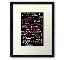 Jim Moriarty Quotes Print Framed Print