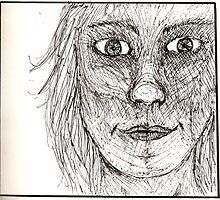 Sketchy Face by Phoebe Tan