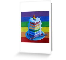 Gay Pride, Birthday, or Wedding Cake  Greeting Card