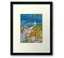 Beach Cross Framed Print