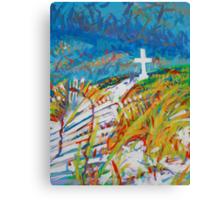 Beach Cross Canvas Print