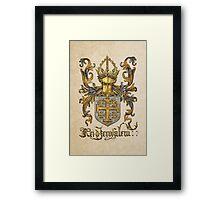 Kingdom of Jerusalem Coat of Arms - Livro do Armeiro-Mor Framed Print