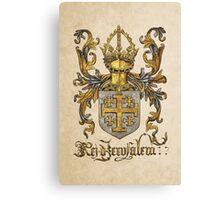 Kingdom of Jerusalem Coat of Arms - Livro do Armeiro-Mor Canvas Print