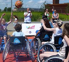 Wheelchair Basketball by Sandra Caven