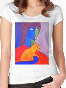 Watchful Eyes Women's Fitted Scoop T-Shirt
