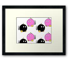 Paper Mario Bob-Omb Pattern  Framed Print