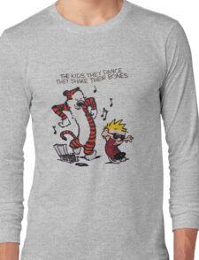 Calvin And Hobbes Dance Long Sleeve T-Shirt