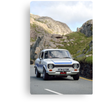 The Three Castles Welsh Trial 2014 - Ford Escort RS200 MK1 Canvas Print