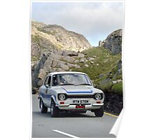 The Three Castles Welsh Trial 2014 - Ford Escort RS200 MK1 Poster