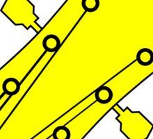 Guitar player yellow Sticker