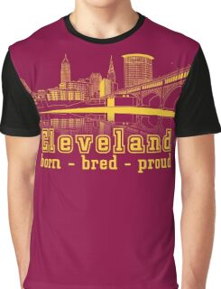 Heritage Park reflecting in the Cuyahoga river. Graphic T-Shirt