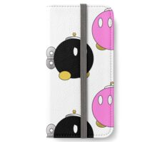 Paper Mario Bob-Omb Pattern  iPhone Wallet/Case/Skin