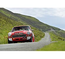The Three Castles Welsh Trial 2014 - MGC GT Photographic Print