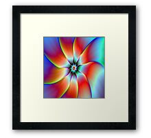 Flower in Red Orange and Yellow Framed Print